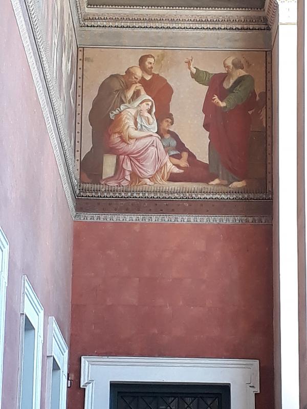 바울의 아테네 선교가 그려져 있는 그리스 아테네 국립대 본관
