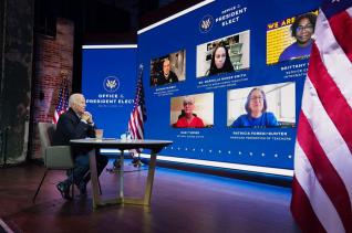조 바이든 美대통령 당선자는 며칠 전 국가 안보 전문가들과 화상으로 회의를 했다. ⓒ SNS