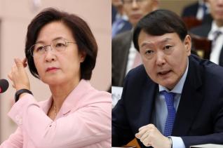 추미애 법무부장관과 윤석열 검찰총장 ⓒ 뉴시스