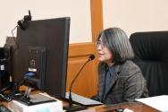 김영란 대법원 양형위원회 위원장이 지난 7일 제106차 전체회의를 진행하고 있다. 양형위는 이날 '디지털 성범죄' 양형기준을 확정했다.