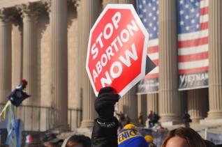 낙태 반대 시위 장면