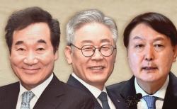 왼쪽부터 이낙연 더불어민주당 대표, 이재명 경기지사, 윤석열 검찰총장. ⓒ뉴시스
