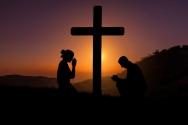 십자가 일몰