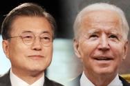 문재인 대통령과 조 바이든 미국 대통령. ⓒ뉴시스