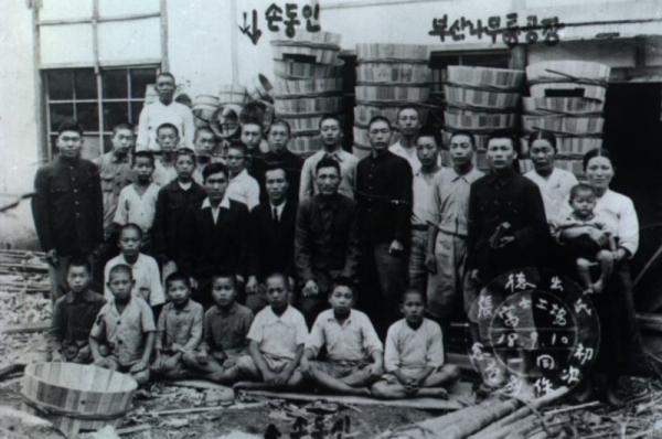 손양원 목사가 옥고를 치루는 동안 장남 동인이 일하면서 가족을 돌보던 부산의 나무통공장