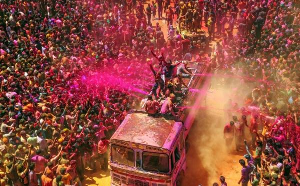 인도의 홀리 축제.