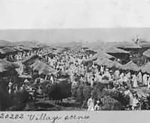 매서인들의 주요 활동 무대였던 시골 장터.