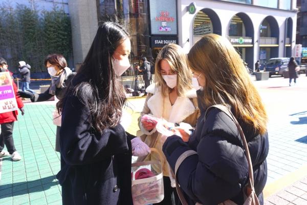 (사)한국가족보건협회(대표 김지연, 한가협)이 주최한 '웨잇포미(wait for me)' 캠페인 기자회견