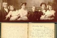 (위) 왼쪽부터 세 번째가 훗날 6대 이화학당장을 역임한 첫째 딸 앨리스, 맨 왼쪽이 아펜젤러, 오른쪽에서 두 번째가 부인 엘라. (아래) 1889년 부산에서 기록한 아펜젤러의 선교구상 일기