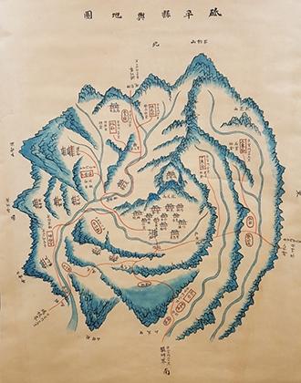 1872년도 지평현 지도