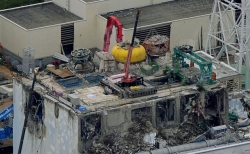 파손된 후쿠시마 원전 4호기