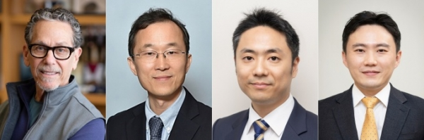 왼쪽부터 로날드 에반스, 구본권, 김진홍, 유창훈 교수