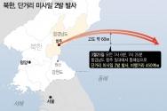 """합동참모본부는 25일 오전 """"북한은 오늘 아침 함경남도 일대에서 동해상으로 미상발사체 2발을 발사했으며 추가정보에 대해서는 한미 정보당국이 정밀 분석 중에 있다""""고 밝혔다. ⓒ뉴시스"""