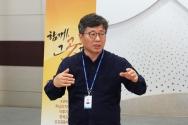 강대흥 사무총장이 기자간담회에서 발언하고 있다.