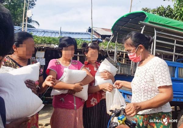 글로벌호프가 미얀마 빈민계층에 긴급 식량을 지원했다.