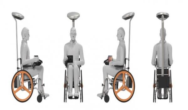 자율주행 스마트 휠체어 모형도