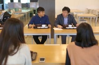 장순흥 총장 학생들과 아침식사