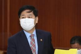 구윤철 국무조정실장이 20일 오전 서울 종로구 정부서울청사에서 영상으로 열린 국정현안점검조정회의에 참석하고 있다.