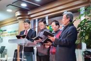 솔로몬일터교회에서 일터예배를 드리는 현장.