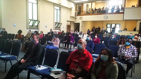 지난 30일 UBF 시카고지부에서 세계선교보고대회에 참여하고 있다.