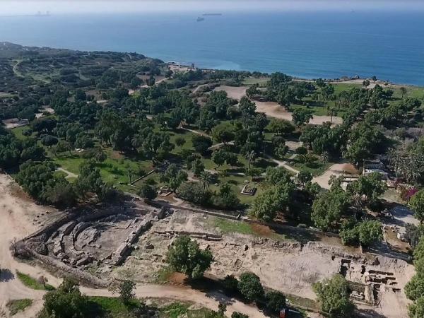 2천년 전에 만들어진 이스라엘 고대 성당의 유적