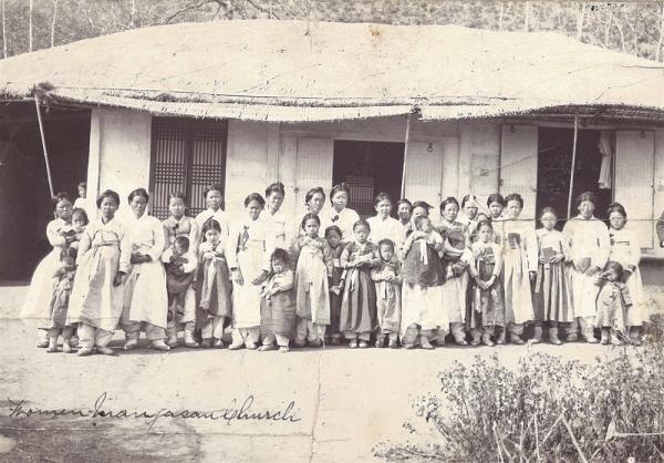 군산 대야 만자산교회 여성도들