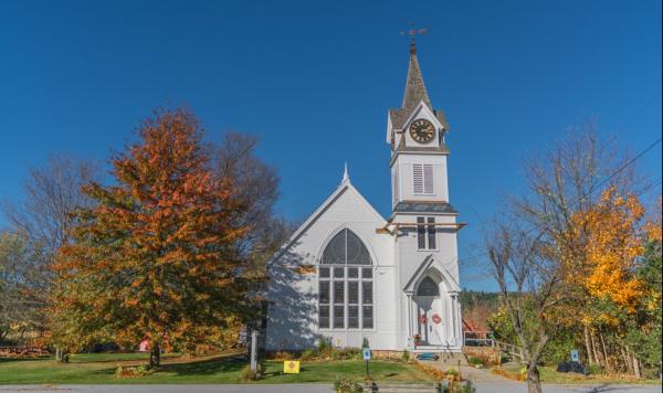 미국 버몬트 주에 위치한 한 교회. 사진은 본문 내용과 직접적인 연관 없음.