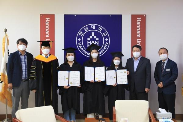 한남대 외국인 유학생 졸업식