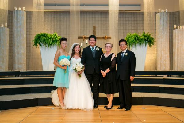 아들 제이슨 결혼식 모습