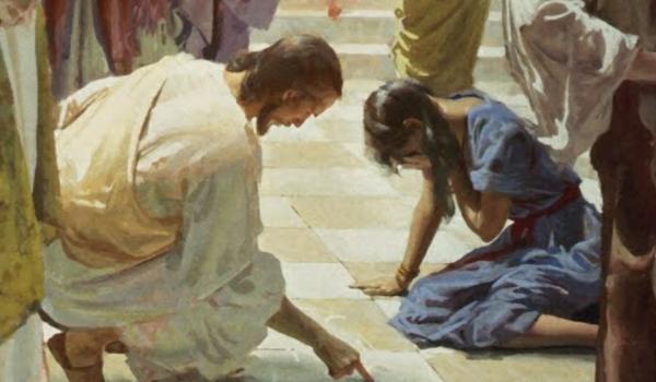 간음 하다 붙잡힌 여인과 그를 용서하신 예수