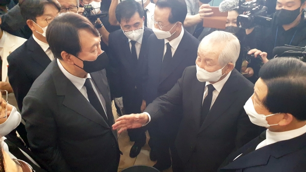 윤석열 전 총장 김장환 목사