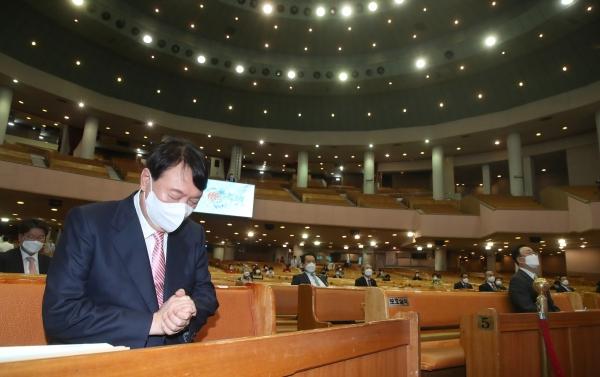 윤석열 후보 여의도순복음교회
