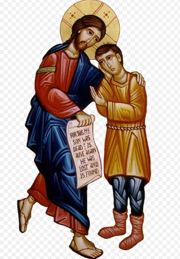 예수님과 탕자를 묘사한 그림