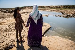 시리아 북동부 알 카 부르 강